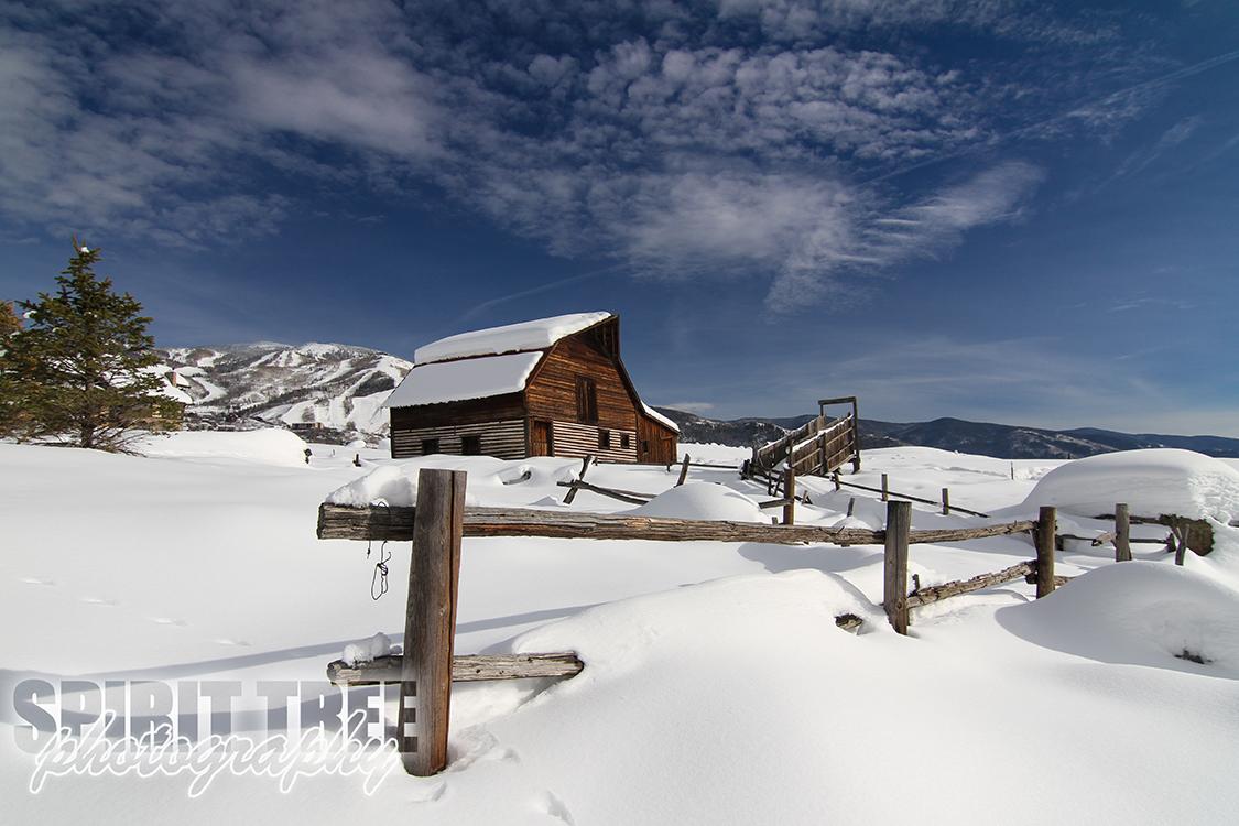Snowy Steamboat Springs